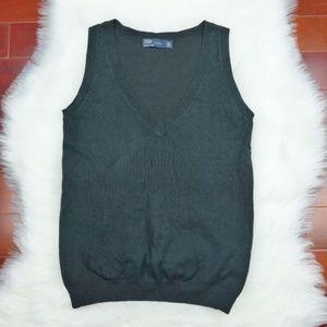 ZARA Knit Solid Black Vest Soft  Size M